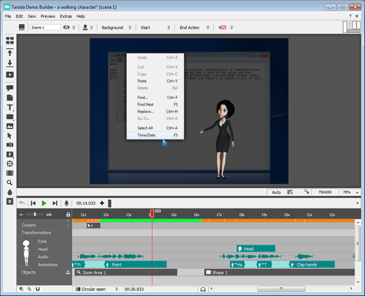 Tanida Demo Builder Screen shot